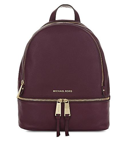 MICHAEL MICHAEL KORS Rhea small leather backpack (Plum