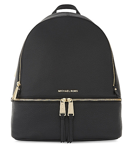 MICHAEL MICHAEL KORS Rhea large grained leather backpack (Black