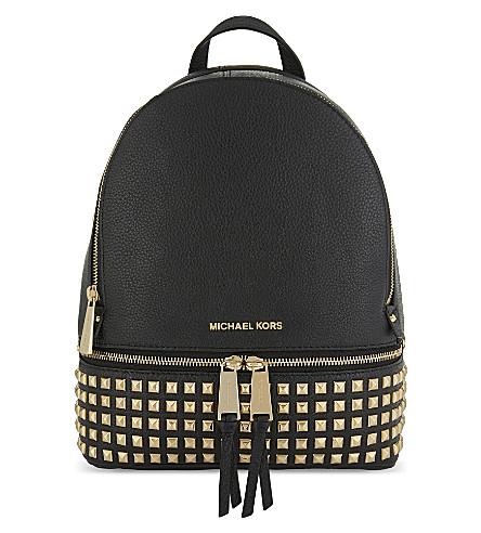 MICHAEL MICHAEL KORS Rhea leather backpack (Black