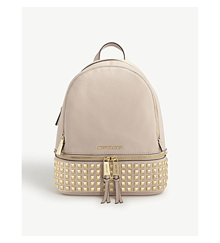 MICHAEL MICHAEL KORS Rhea leather backpack (Soft+pink