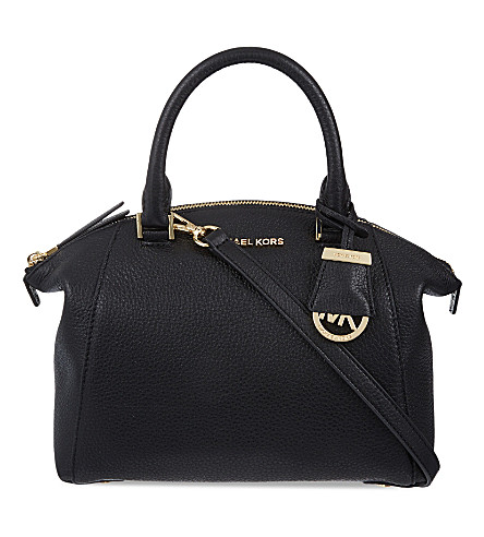 MICHAEL MICHAEL KORS Riley small leather satchel (Black