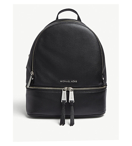 MICHAEL MICHAEL KORS Rhea medium leather backpack (Black