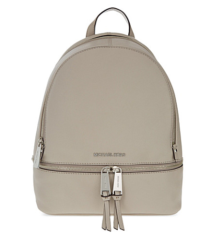 MICHAEL MICHAEL KORS Rhea medium leather backpack (Cement