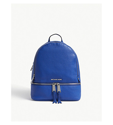 MICHAEL MICHAEL KORS Rhea medium leather backpack (Elctric+blue