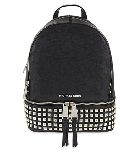 MICHAEL MICHAEL KORS Rhea leather backpack (Black