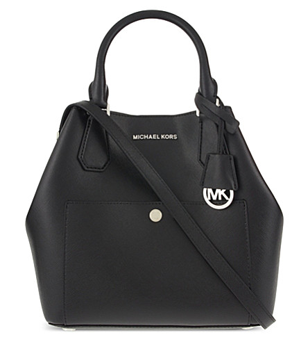 MICHAEL MICHAEL KORS Greenwich large leather tote (Blk/fuschia