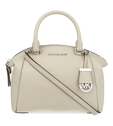 MICHAEL MICHAEL KORS Riley small leather satchel (Cement