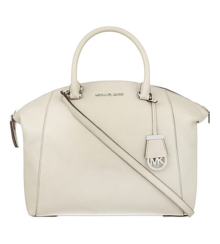 MICHAEL MICHAEL KORS Riley large leather satchel (Cement