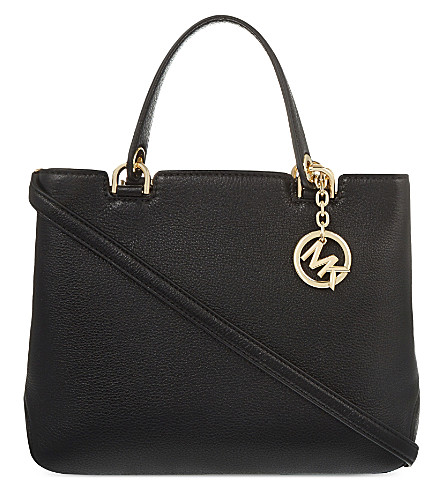 MICHAEL MICHAEL KORS Anabelle medium grained leather tote (Black