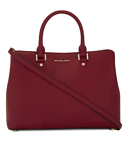 MICHAEL MICHAEL KORS Savannah large leather satchel (Cherry