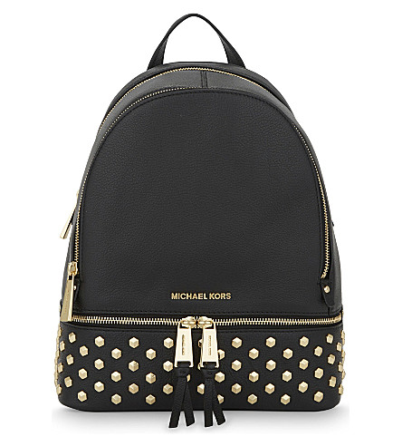 MICHAEL MICHAEL KORS Rhea medium studded leather backpack (Black