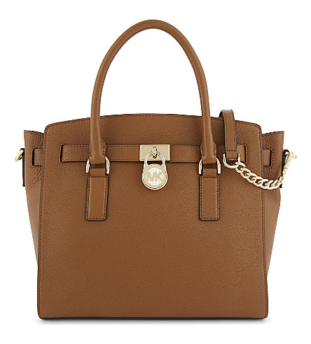MICHAEL MICHAEL KORS Hamilton East/West large grained leather tote (Acorn