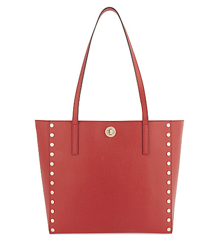 MICHAEL MICHAEL KORS Rivington studded large leather tote (Bright+red