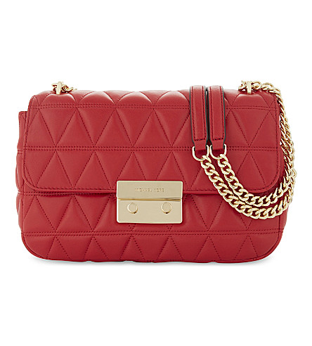 MICHAEL MICHAEL KORS Sloan leather cross-body bag (Bright+red