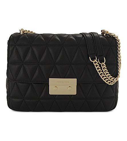 MICHAEL MICHAEL KORS Sloan extra large leather quilted shoulder bag (Black