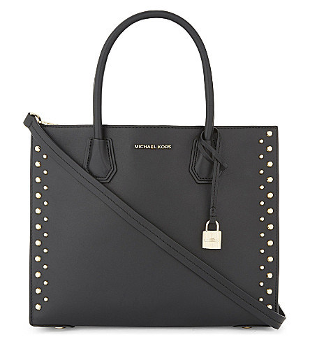 MICHAEL MICHAEL KORS Mercer large leather tote (Black