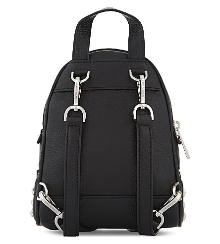 MICHAEL MICHAEL KORS Extra Small Rhea Studded Backpack in Nero