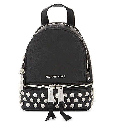 MICHAEL MICHAEL KORS Rhea studded leather backpack (Black