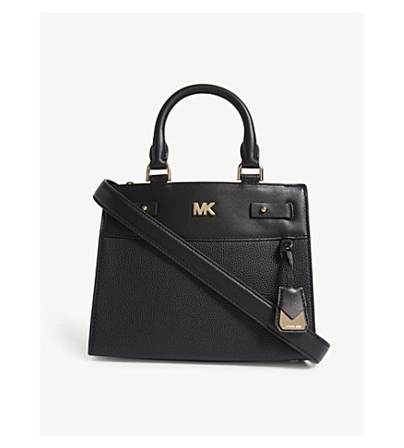 MICHAEL MICHAEL KORS Reagan pebbled leather mini tote (Black