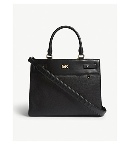 MICHAEL MICHAEL KORS Reagan grained leather tote (Black
