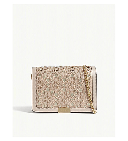 MICHAEL MICHAEL KORS Jade medium floral leather clutch (Soft+pink