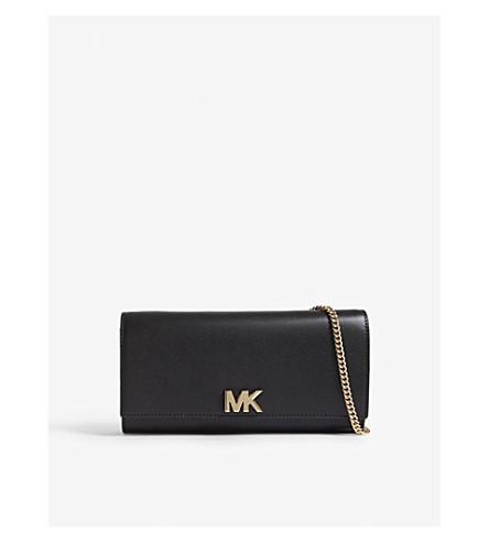 MICHAEL MICHAEL KORS Mott leather clutch (Black