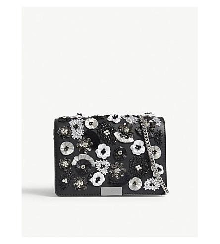 MICHAEL MICHAEL KORS Jade medium leather cross-body bag (Black