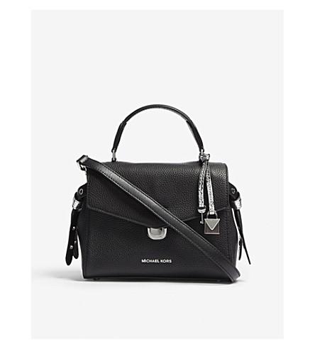 MICHAEL MICHAEL KORS Bristol leather satchel bag (Black