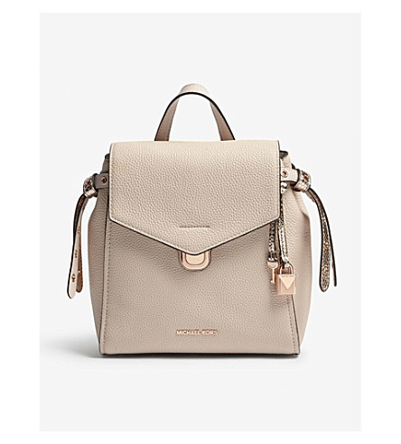 MICHAEL MICHAEL KORS Bristol small leather backpack (Soft+pink