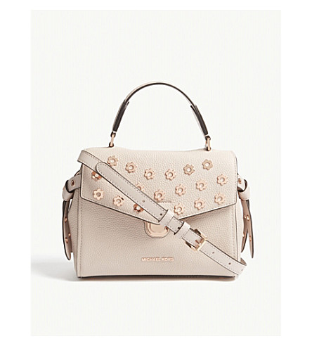 MICHAEL MICHAEL KORS Bristol small grained leather satchel (Soft+pink