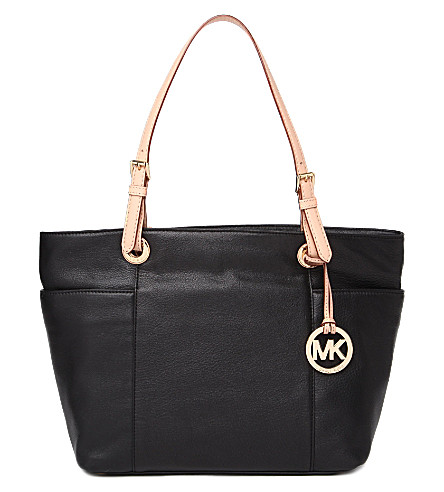 MICHAEL MICHAEL KORS Jet Set top zip tote (Black