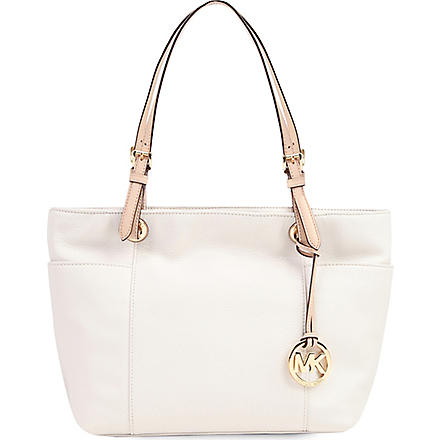 MICHAEL KORS Jet Set top-zip tote (Vanilla
