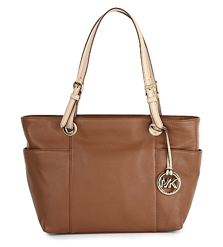 MICHAEL MICHAEL KORS Jet Set top zip tote (Luggage
