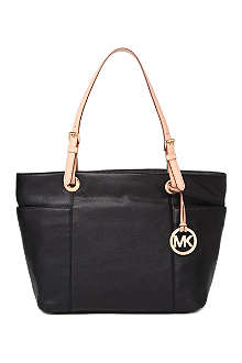 MICHAEL KORS Jet Set top-zip leather tote