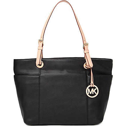 MICHAEL KORS Jet Set top-zip leather tote (Black