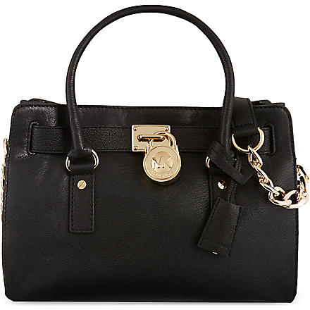 MICHAEL MICHAEL KORS Hamilton East/West satchel (Black