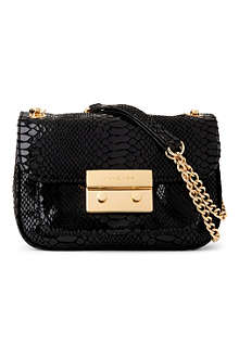 MICHAEL KORS Sloan snake-print shoulder bag