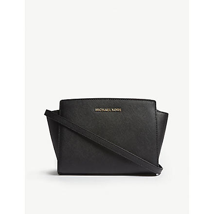 MICHAEL KORS Selma medium leather cross-body bag (Black