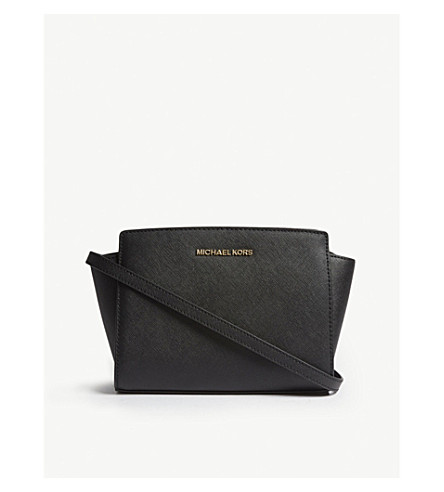 MICHAEL MICHAEL KORS Selma medium leather cross-body bag (Black
