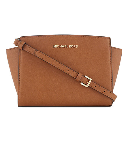 MICHAEL MICHAEL KORS Selma medium leather messenger bag (Luggage
