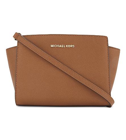 MICHAEL MICHAEL KORS Selma medium leather cross-body bag (Luggage