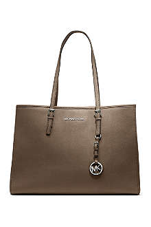 MICHAEL KORS Jet Set Travel large saffiano leather tote