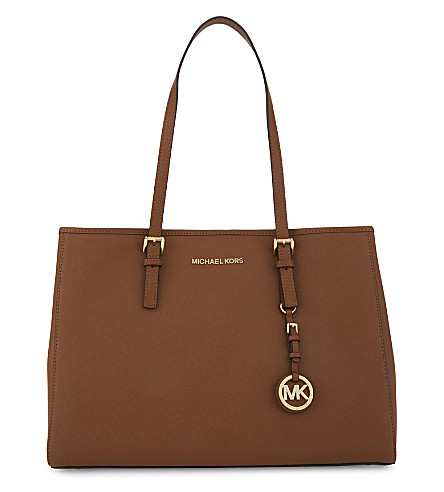 MICHAEL MICHAEL KORS Jet Set Travel large leather tote (Luggage