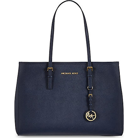 MICHAEL MICHAEL KORS Large Jet Set travel tote (Navy