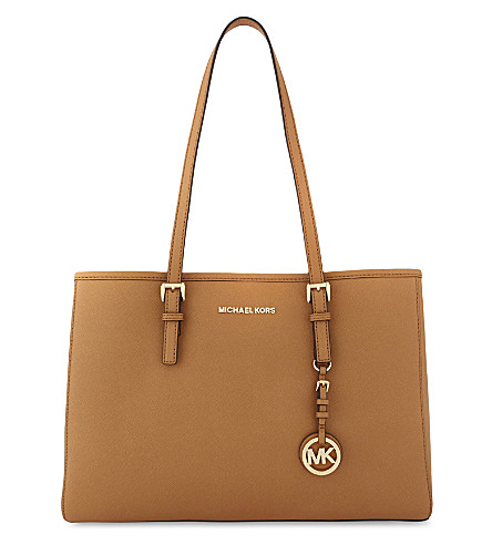 MICHAEL MICHAEL KORS Jet Set Travel large leather tote (Acorn