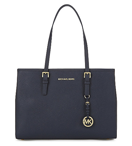 MICHAEL MICHAEL KORS Jet Set Travel large leather tote (Admiral