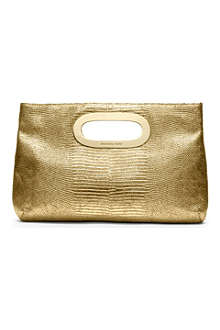 MICHAEL KORS Berkley mock-lizard clutch