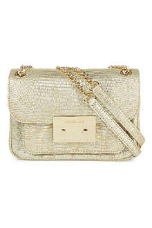 MICHAEL KORS Sloan python-print shoulder bag