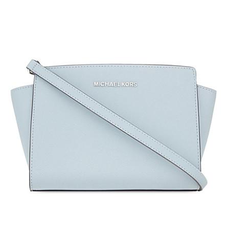 MICHAEL MICHAEL KORS Selma medium leather shoulder bag (Dusty+blue