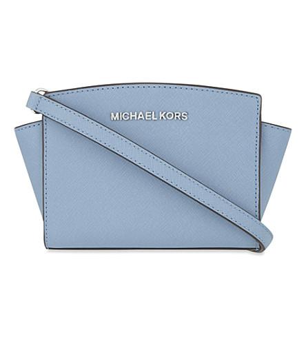 MICHAEL MICHAEL KORS Selma medium leather shoulder bag (Sky